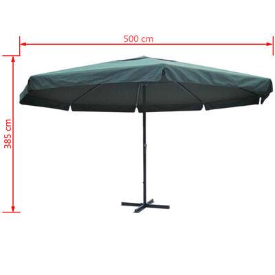 vidaXL Parasol Samos 500 cm aluminium groen