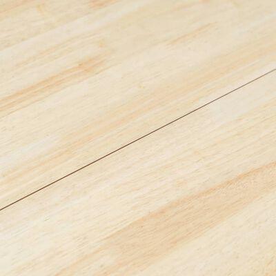 vidaXL Eettafel 106 cm massief rubberwood grijs en bruin