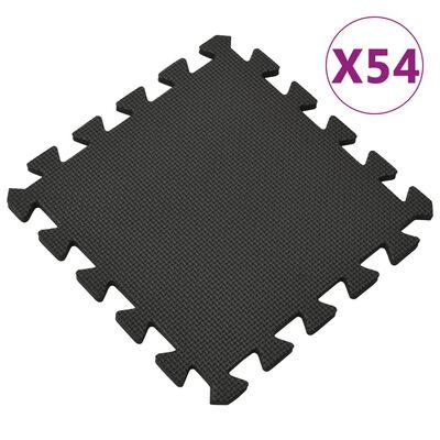 vidaXL 54x Vloermatten 4,86 ㎡ EVA-schuim zwart