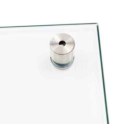 vidaXL Spatscherm keuken 70x40 cm gehard glas transparant