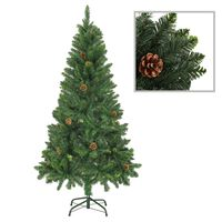 vidaXL Kunstkerstboom met dennenappels 150 cm groen