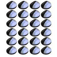 vidaXL Solarwandlampen LED 24 st rond zwart