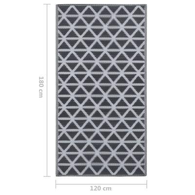vidaXL Buitenkleed 120x180 cm PP zwart