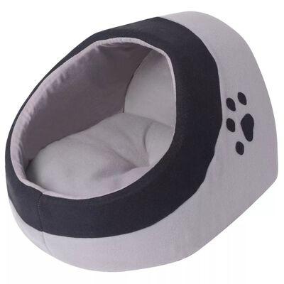 vidaXL Kattenmand XL grijs en zwart