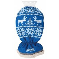 ijskrabber met handschoen blauw/wit 34 cm
