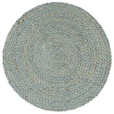 vidaXL Placemats 4 st rond 38 cm jute olijfgroen, Olivegreen
