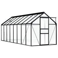 vidaXL Broeikas 9,31 m² aluminium antraciet