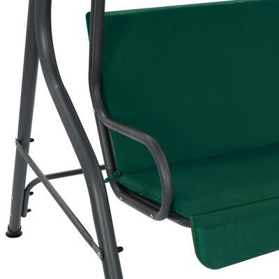 vidaXL Schommelbank 170x110x153 cm stof groen