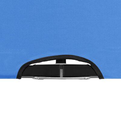 vidaXL Ligbed 2-persoons inklapbaar staal blauw