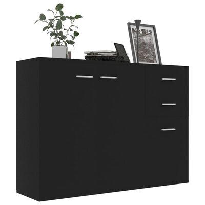 vidaXL Dressoir 105x30x75 cm spaanplaat zwart