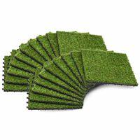 vidaXL Kunstgrastegels 30x30 cm groen 20 st