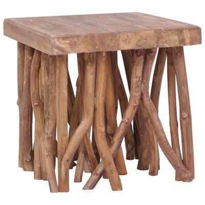 vidaXL Salontafel takken 40x40x40 cm massief hout