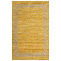 vidaXL Vloerkleed handgemaakt 160x230 cm jute geel