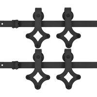 vidaXL Hardwaresets voor schuifdeuren 2 st 200 cm staal zwart