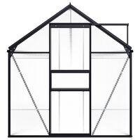 vidaXL Broeikas 1,33 m² aluminium antracietkleurig