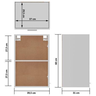 vidaXL Hangkast 39,5x31x60 cm spaanplaat wit