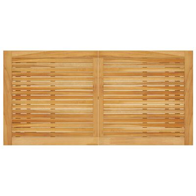 vidaXL Tuintafel 140x70x73,5 cm massief acaciahout