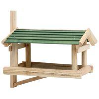vidaXL Vogelvoeder 35x29,5x21 cm massief hout
