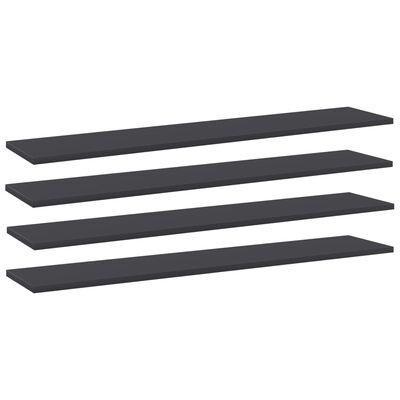vidaXL Wandschappen 4 st 100x20x1,5 cm spaanplaat grijs