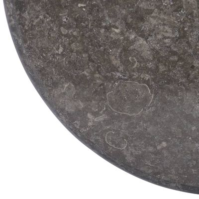 vidaXL Tafelblad Ø60x2,5 cm marmer zwart