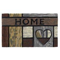 Kokos deurmat Ruco style houten hart