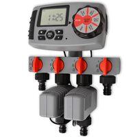 vidaXL Besproeiingstimer automatisch met 4 stations 3 V