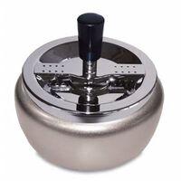 Zilveren draaiasbak/terrasasbak 13 cm - Buiten asbakken -