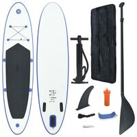 vidaXL Stand-up paddleboard opblaasbaar blauw en wit