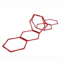 Pure2Improve Behendigheidsrooster 6 st zeshoekig rood