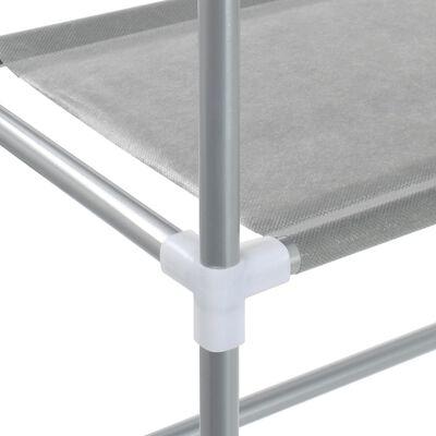 vidaXL Opbergrek voor boven wasmachine 3-laags 69x28x169 cm zilverkleurig