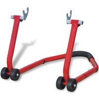 vidaXL Motorfiets achterwiel standaard rood