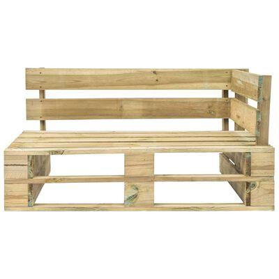 vidaXL Tuinhoekbank pallet geïmpregneerd grenenhout groen