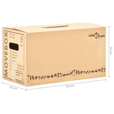 vidaXL Verhuisdozen 20 st XXL 60x33x34 cm karton