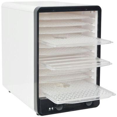 vidaXL Voedseldroger met 10 lades 550 W wit