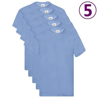 Fruit of the Loom T-shirts Original 5 st M katoen lichtblauw
