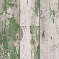 DUTCH WALLCOVERINGS Behang hout groen en beige