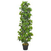 vidaXL Kunstplant met pot laurierboom 150 cm groen