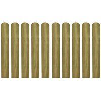 vidaXL 30 st Heklatten 60 cm geïmpregneerd hout
