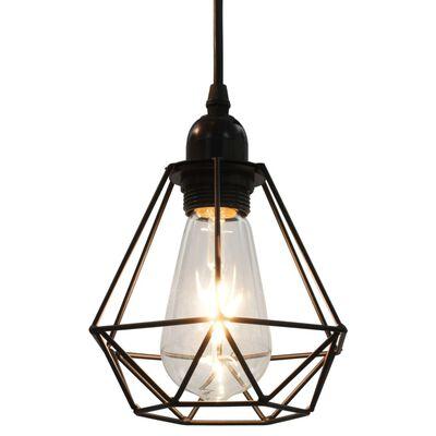 vidaXL Plafondlamp met diamantvormig 3xE27 zwart