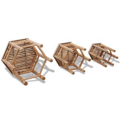 Bamboe stoelen set van 3