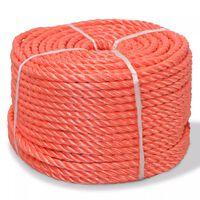 vidaXL Touw gedraaid 6 mm 200 m polypropyleen oranje