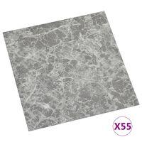vidaXL Vloerplanken zelfklevend 55 st 5,11 m² PVC betongrijs