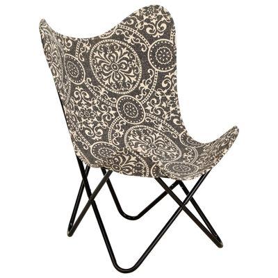 vidaXL Vlinderstoel bedrukt canvas