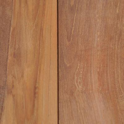 vidaXL Eettafel 120x60x76 cm teakhout met natuurlijke afwerking