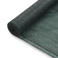 vidaXL Tennisscherm 1,4x25 m HDPE groen