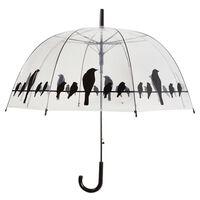 Esschert Design paraplu transparant vogels op draad