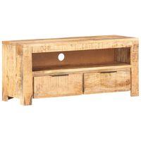 vidaXL Tv-meubel 90x30x40 cm massief ruw mangohout