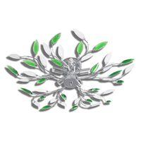 vidaXL Lamp met kristallen bladeren van acryl voor 5x E14 wit/groen
