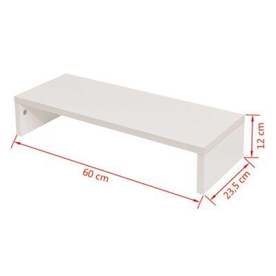 vidaXL Tv-/monitorstandaard 60x23,5x12 cm spaanplaat wit