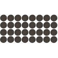 32x Zwarte ronde meubelviltjes/antislip noppen 2,6 cm -